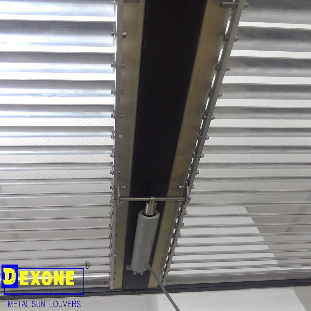 Dx Af60 Motorized Louver Sun Louvers Metal Ceiling Acoustic Mineral Ceiling Dexone Group Ltd