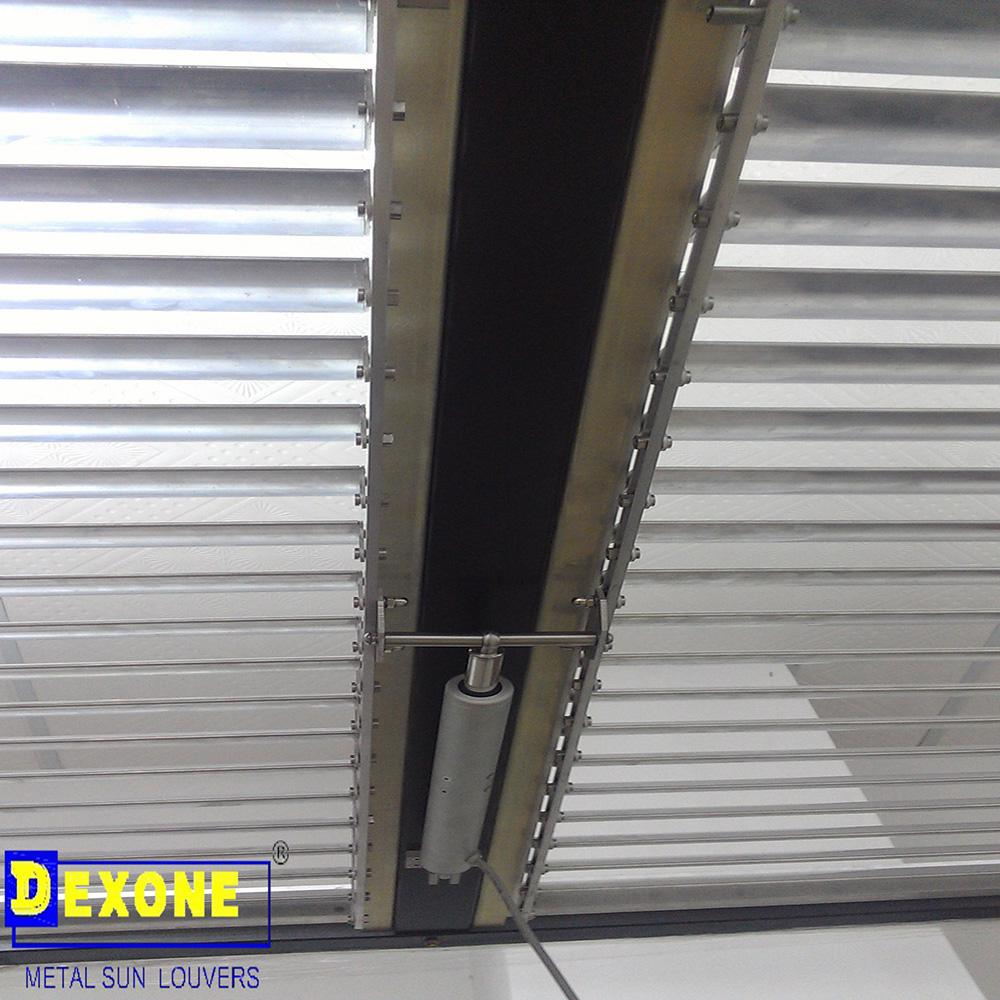 Dx Af60 Motorized Louver Sun Louvers Metal Ceiling