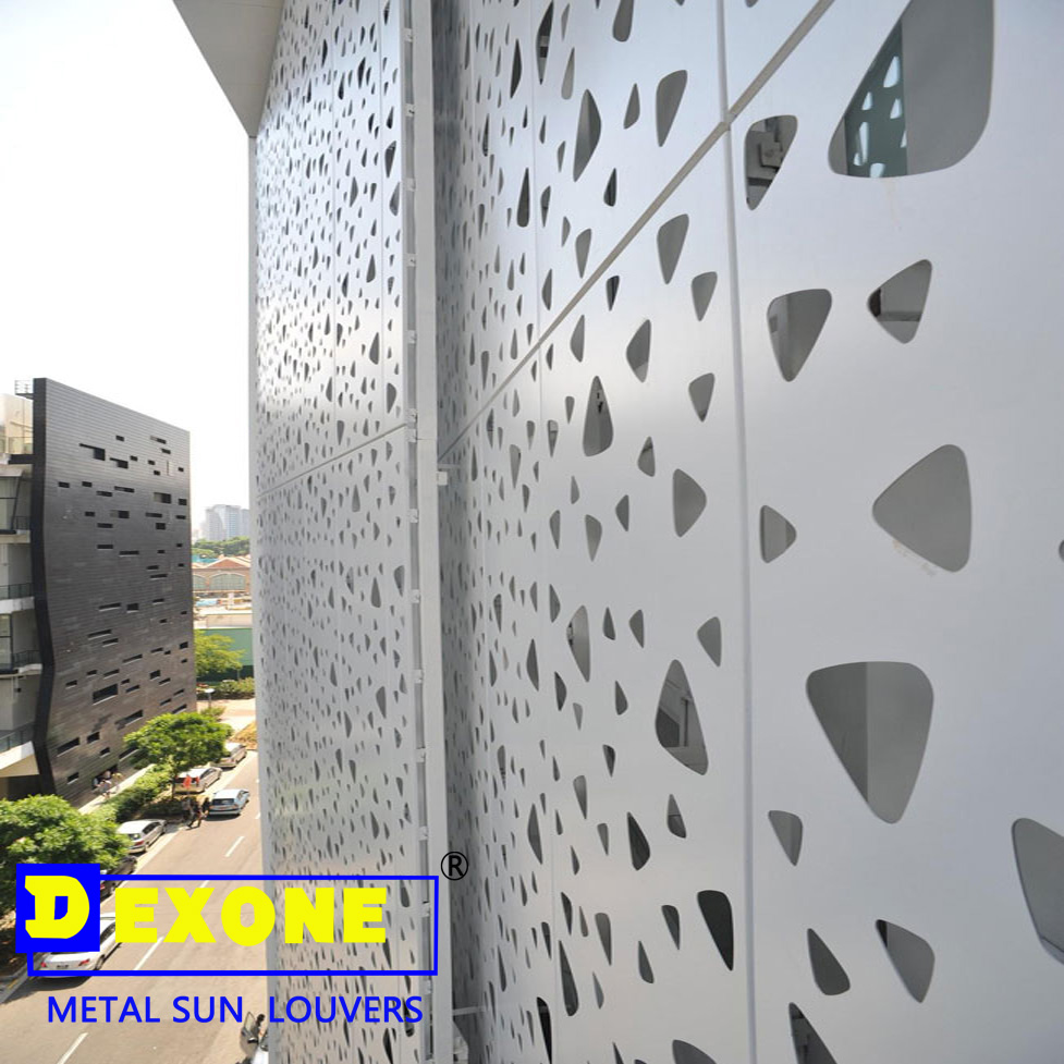 Dx Ca03 Perforated Exterior Metal Panel Sun Louvers Metal